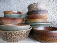 Wood fired pottery - July 2015