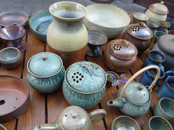 wood fired pottery - April 2015